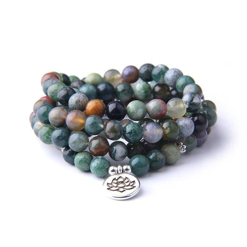 Bracelet Fleur de Lotus 108 Mala Amazonite - Royal Lotus