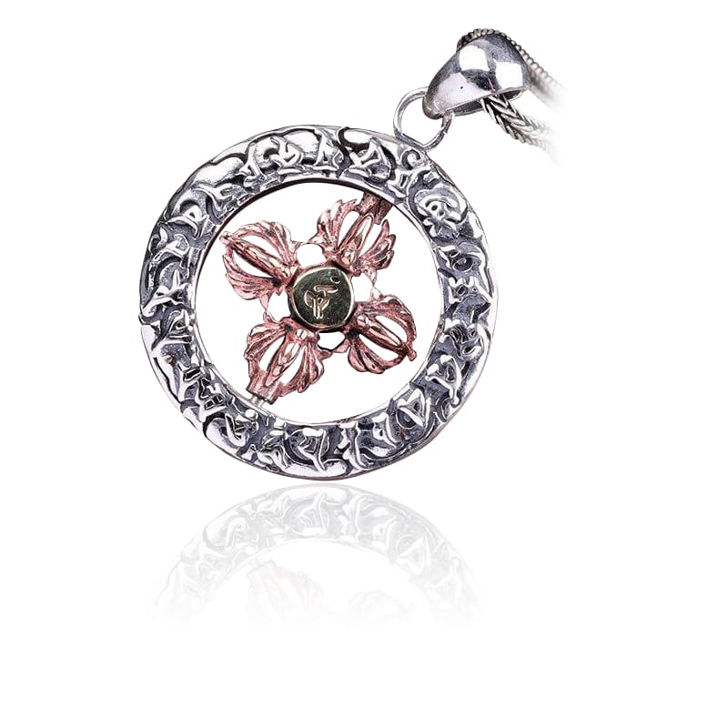 Collier Fleur de Lotus Bouddhisme Rétro en Argent - Royal Lotus