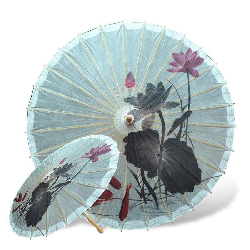 Parapluie Fleur de Lotus Asiatique Poisson Rouge - Royal Lotus