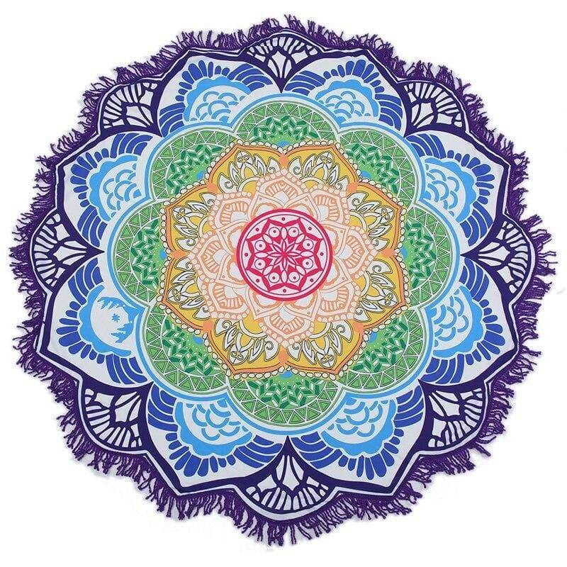 Tapis Fleur De Lotus Mandala Multiple Couleur Plage - Royal Lotus