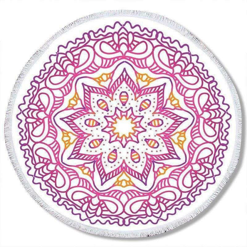 Tapis Fleur De Lotus Mandala rose et blanc - Royal Lotus