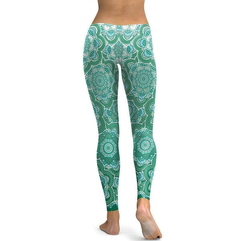 Leggings Yoga Fleur de Lotus Vert - Royal Lotus