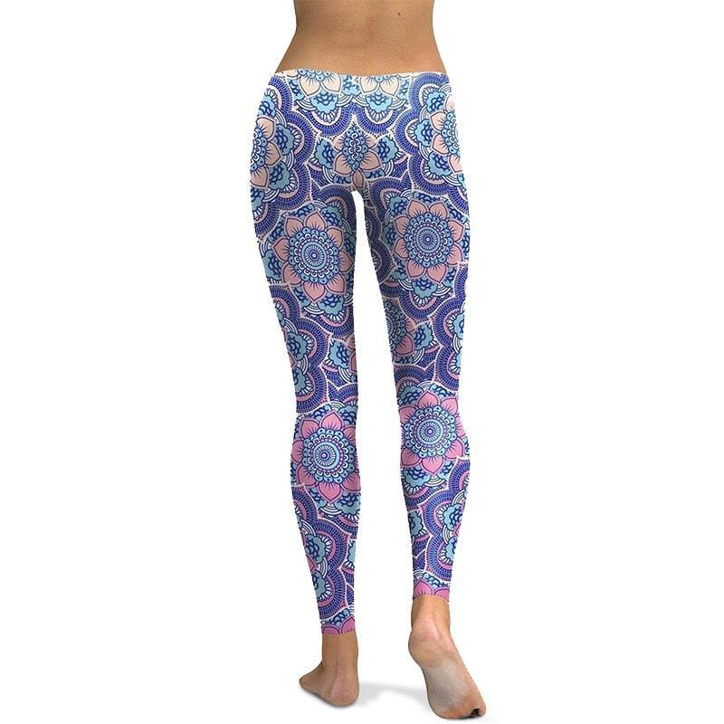 Leggings Yoga Fleur de Lotus Violet et Bleu - Royal Lotus