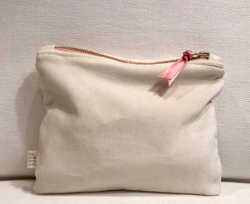 Pink Ribbon Velvet Bag