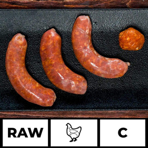 Artisan Meats food delivery in Delhi, NCR, Gurgaon, Noida, India + Raw Chicken Cocktail Sausage - Spanish Chilli