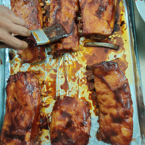 Slow Roasted Korean Style Belgian Pork Ribs (half rack) - overnight marinade