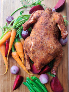 Whole Roast Chicken with 48 Hr Thick Bone Gravy (250ml) - Spice Rub (ready to eat)