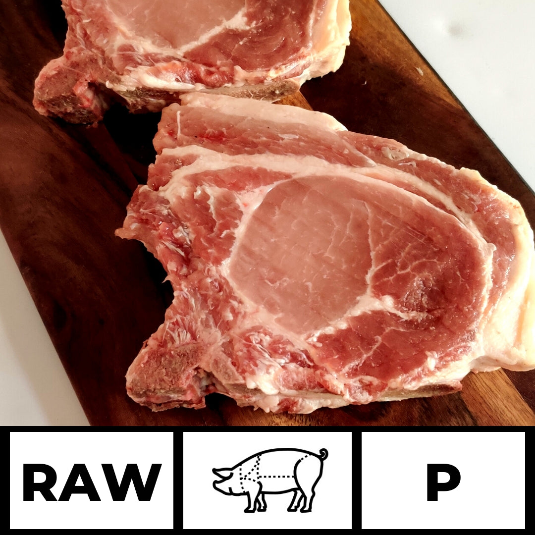 Raw Imported Belgian Short Bone Pork Chops (2 pieces)