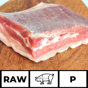 Imported Pork Belly with Skin - Belgian