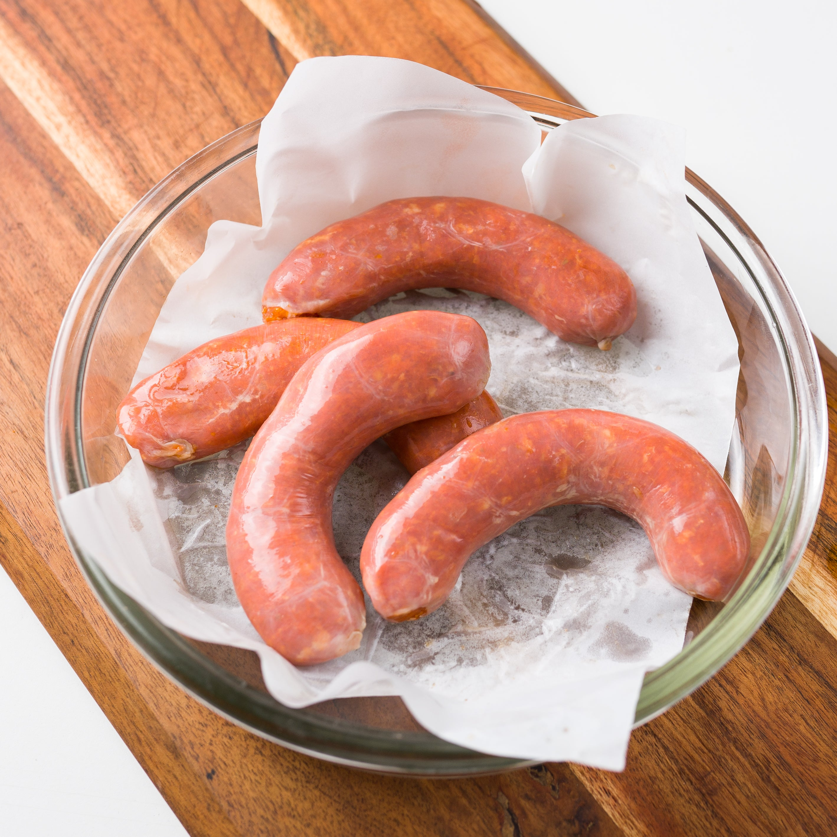 Raw Chicken Cocktail Sausage - Spanish Chilli