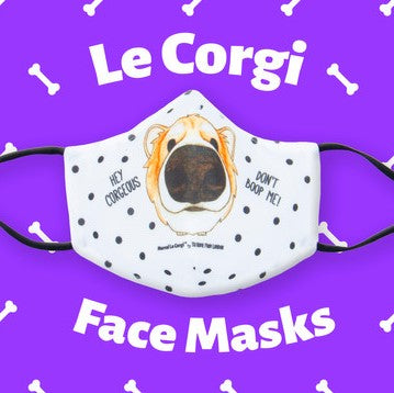 Le Corgi Face-Mask