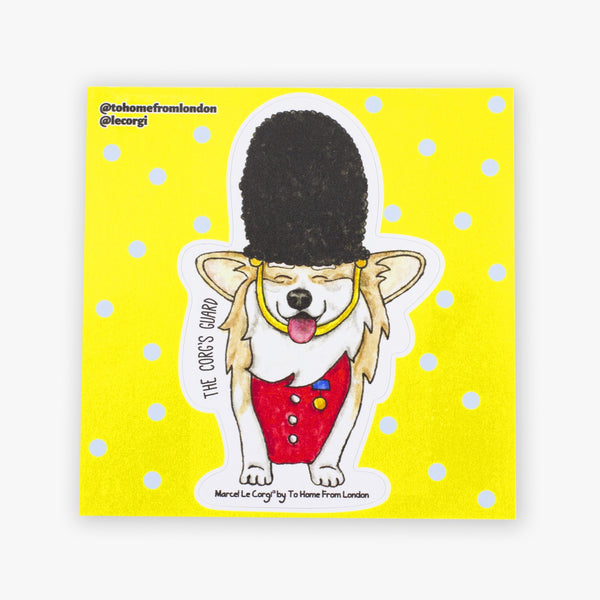 Le Guard Corgi Sticker - To Home From London