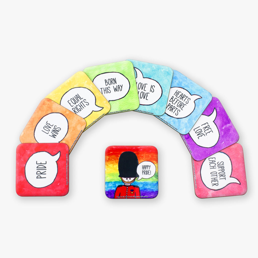 Pride Rainbow Coaster Set - To Home From London