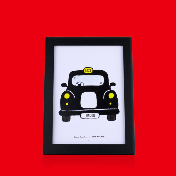 Black Cab Print - To Home From London
