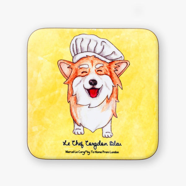 Le Chef Corgi Coaster - To Home From London