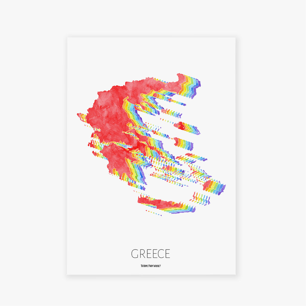 Greece Rainbow Print - To Home From London