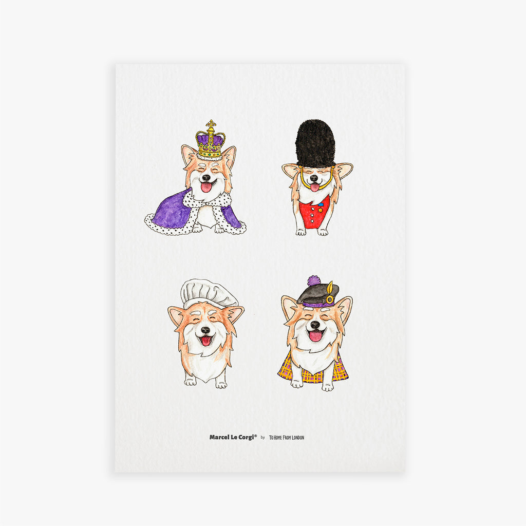 Le Corgi Print - To Home From London