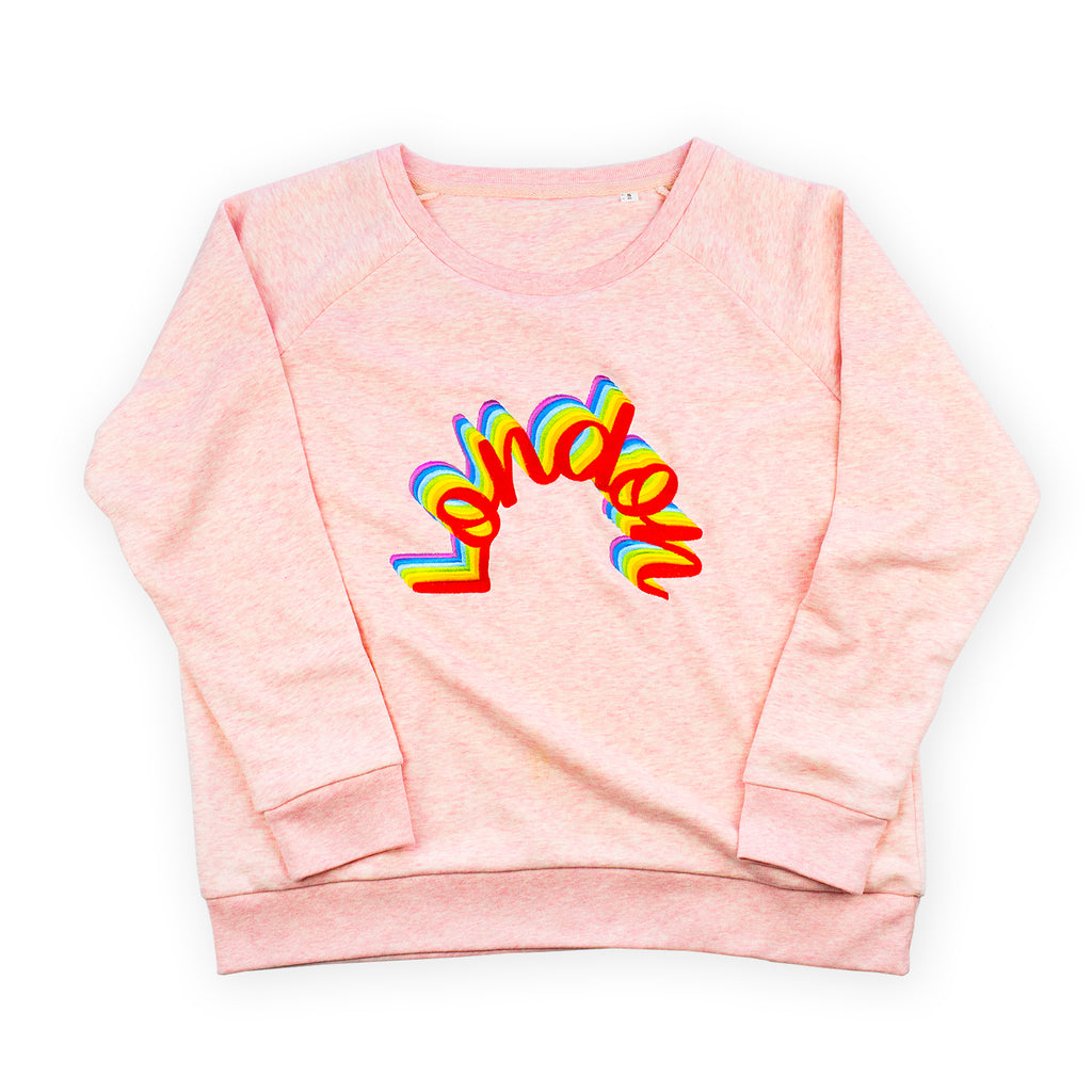 London Rainbow Sweatshirt Pink - To Home From London
