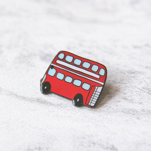Double Decker Enamel Pin