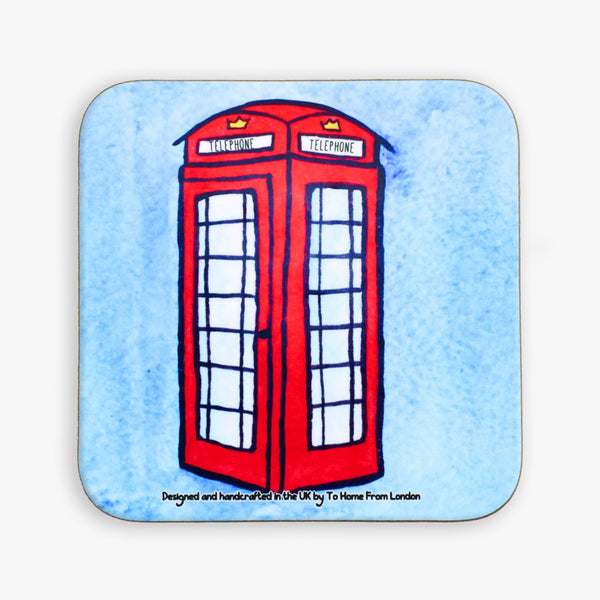 Telephone Box Coaster - To Home From London
