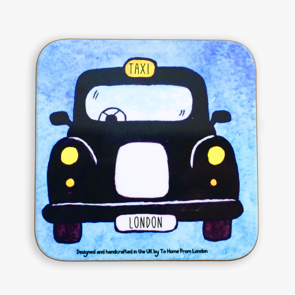 Black Cab Coaster - To Home From London
