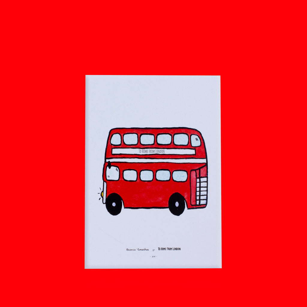 Double Decker Print - To Home From London