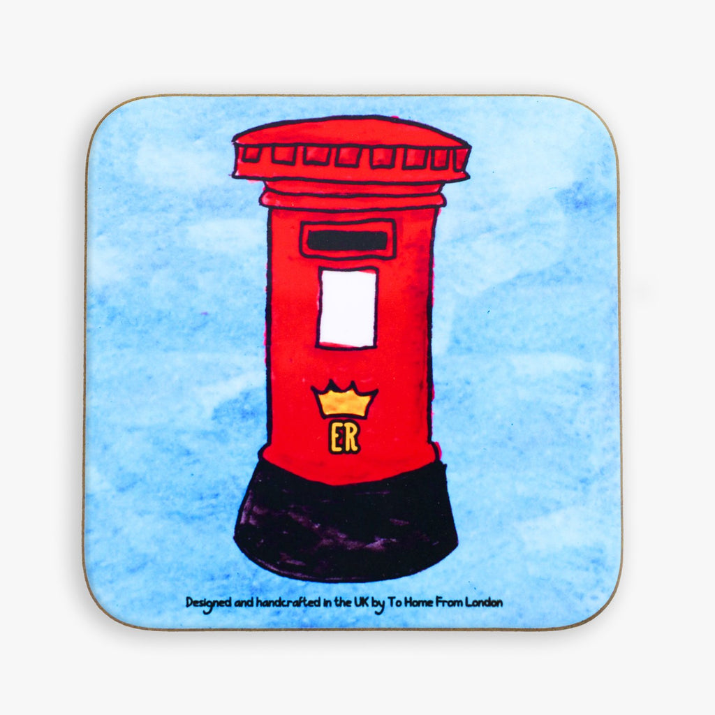 Postbox Coaster - To Home From London
