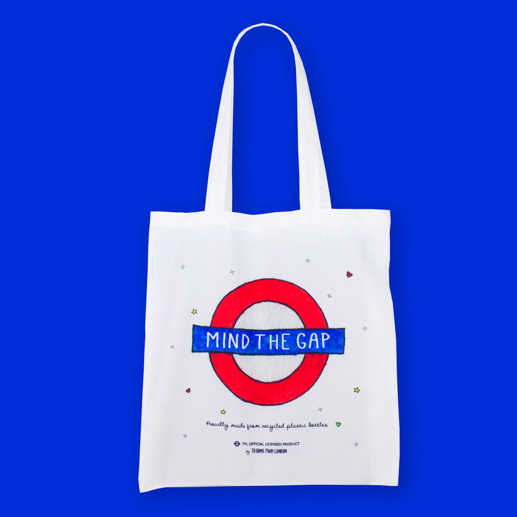 Mind the Gap Roundel Eco Bag - To Home From London