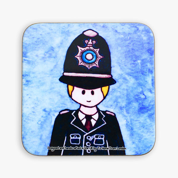 Police Officer Coaster - To Home From London