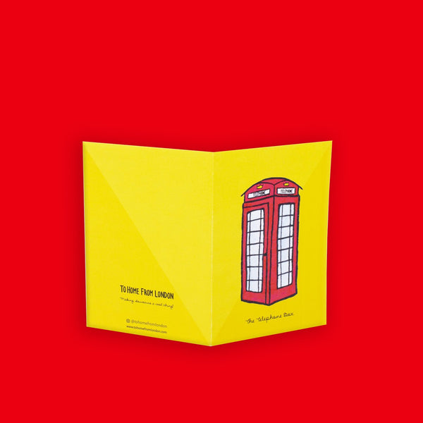 Telephone Box Greeting Card - To Home From London