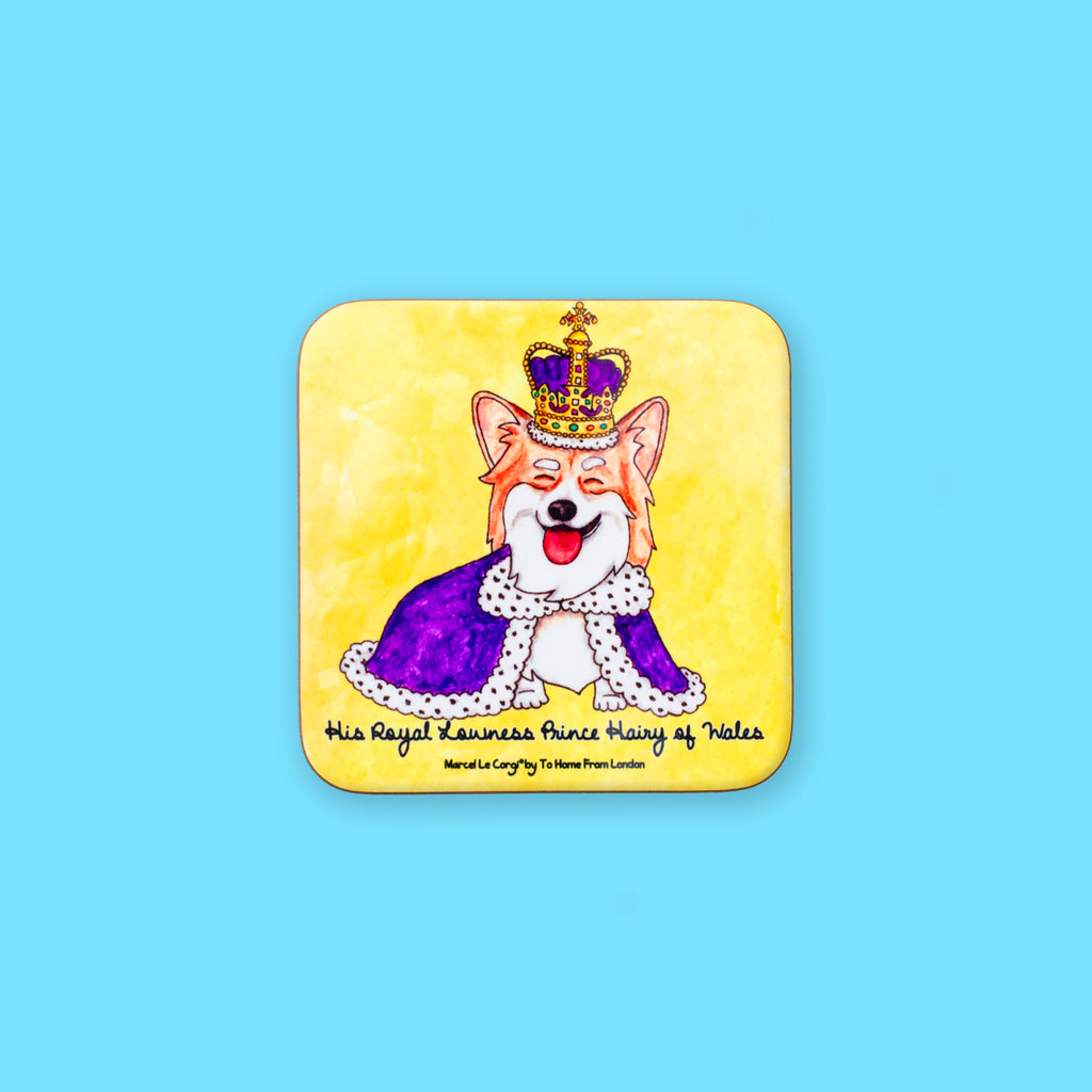 Le Royal Corgi Coaster - To Home From London