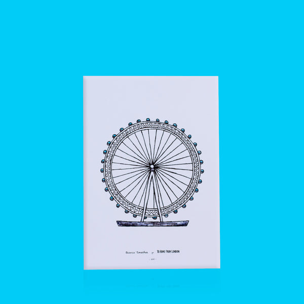 London Eye Print - To Home From London