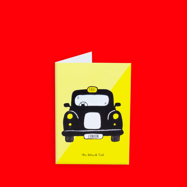 Black Cab Greeting Card - To Home From London