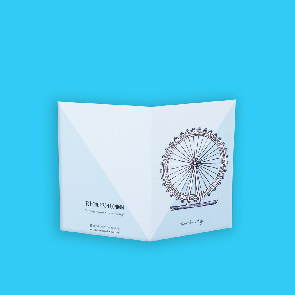 London Eye Greeting Card - To Home From London
