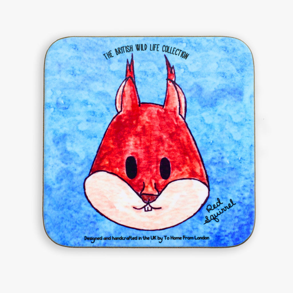Red Squirrel Coaster - To Home From London