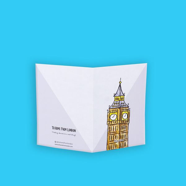 Big Ben Greeting Card - To Home From London