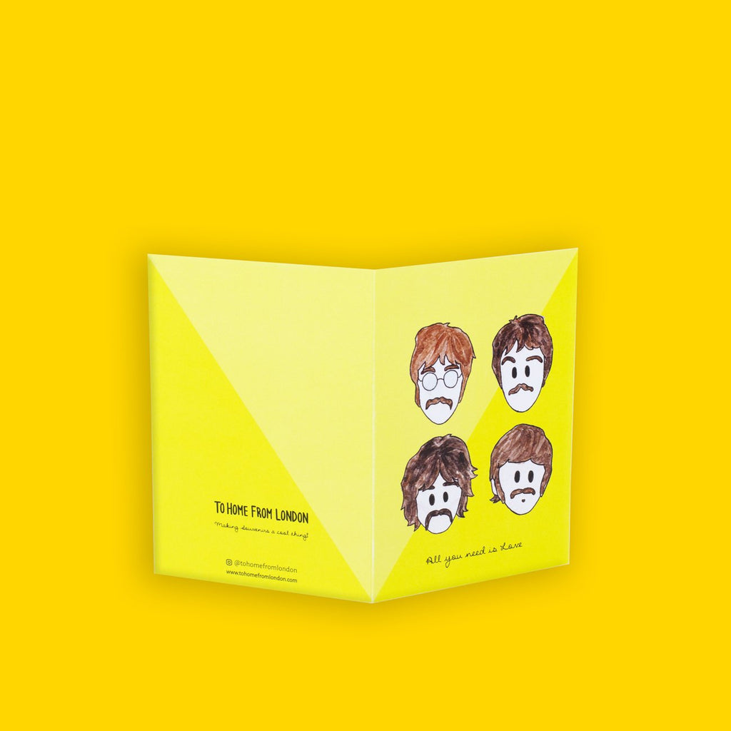 Beatles Greeting Card - To Home From London