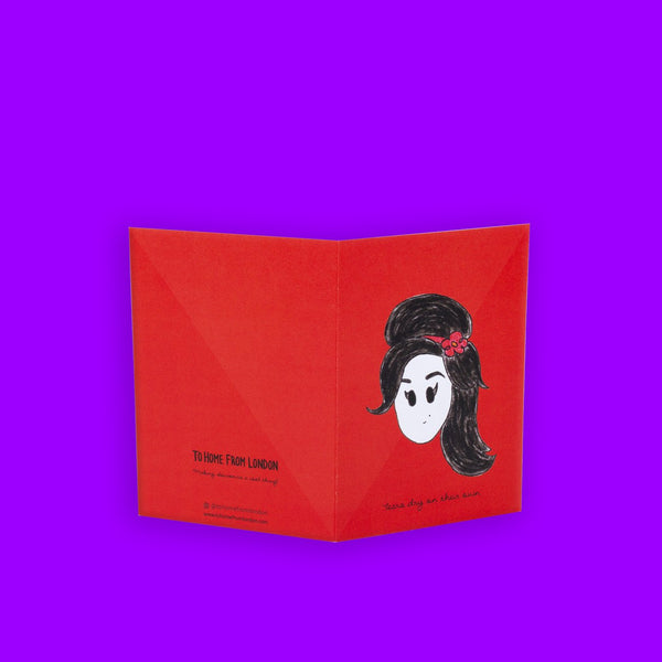 Amy Winehouse Greeting Card - To Home From London