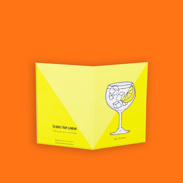 Gin and Tonic Greeting Card - To Home From London