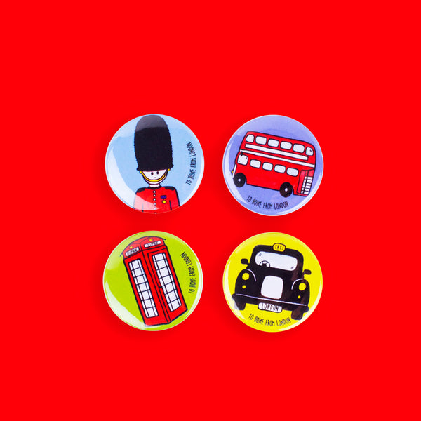 British Icons Badges - To Home From London