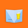 Pint of Beer Greeting Card - To Home From London