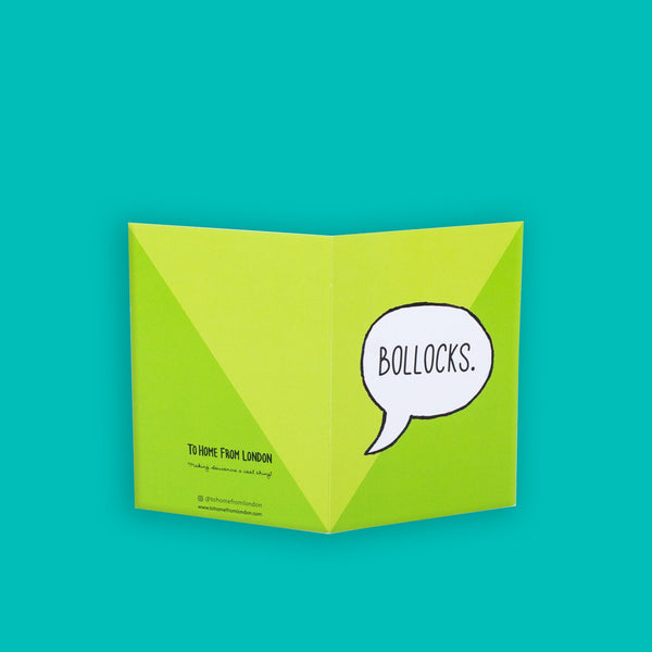 Bollocks Greeting Card
