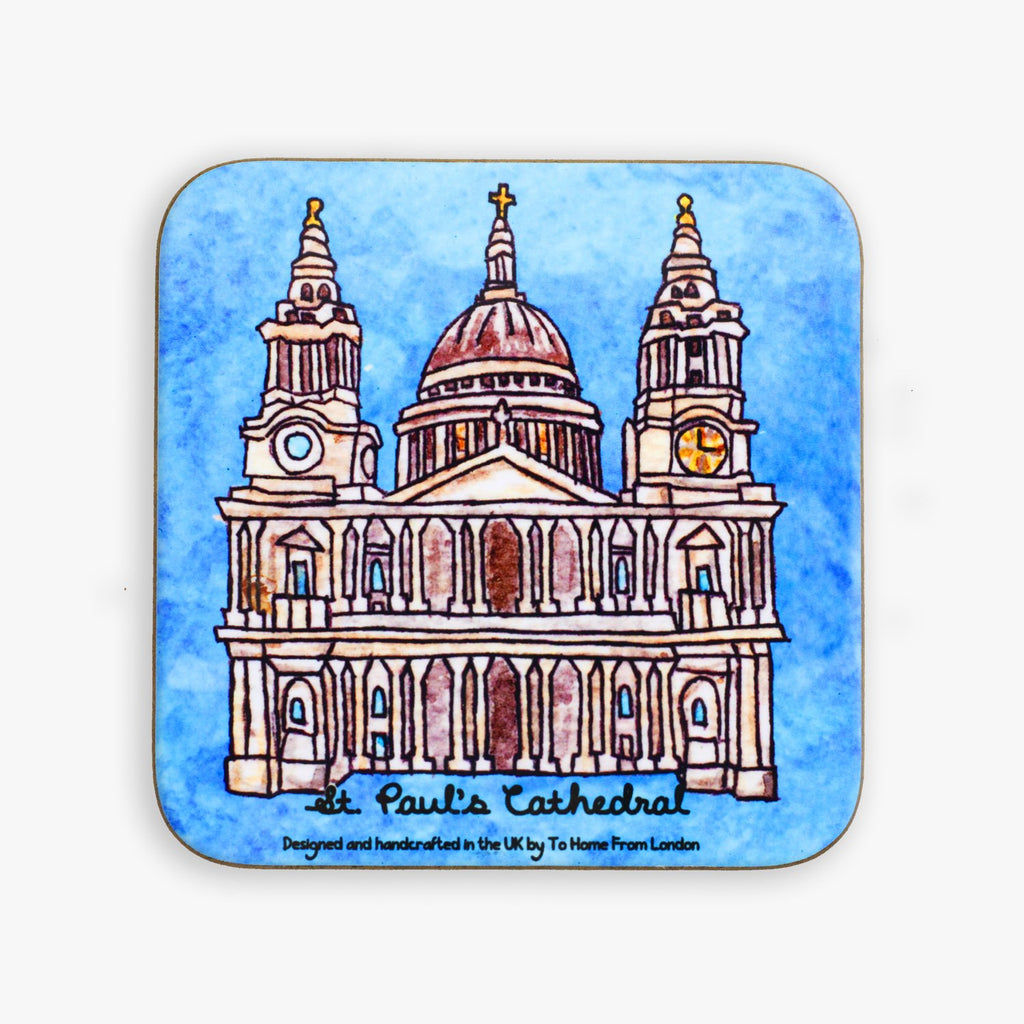 St. Paul's Cathedral Coaster - To Home From London