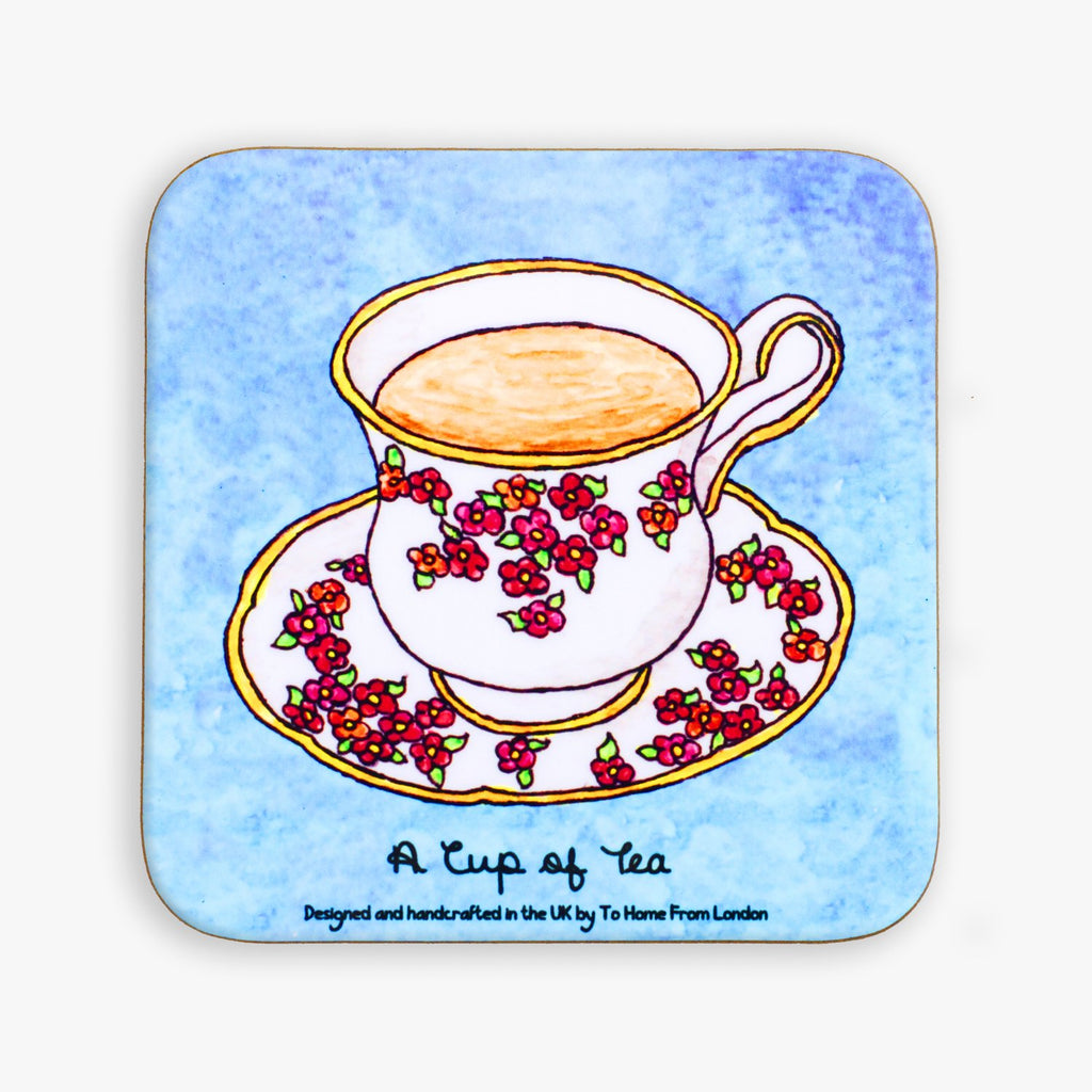 Cup of Tea Coaster - To Home From London