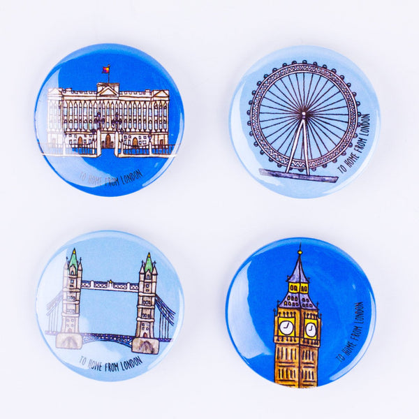 London Landmarks Badges - To Home From London