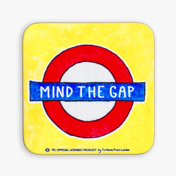 Mind the Gap Roundel Coaster - To Home From London