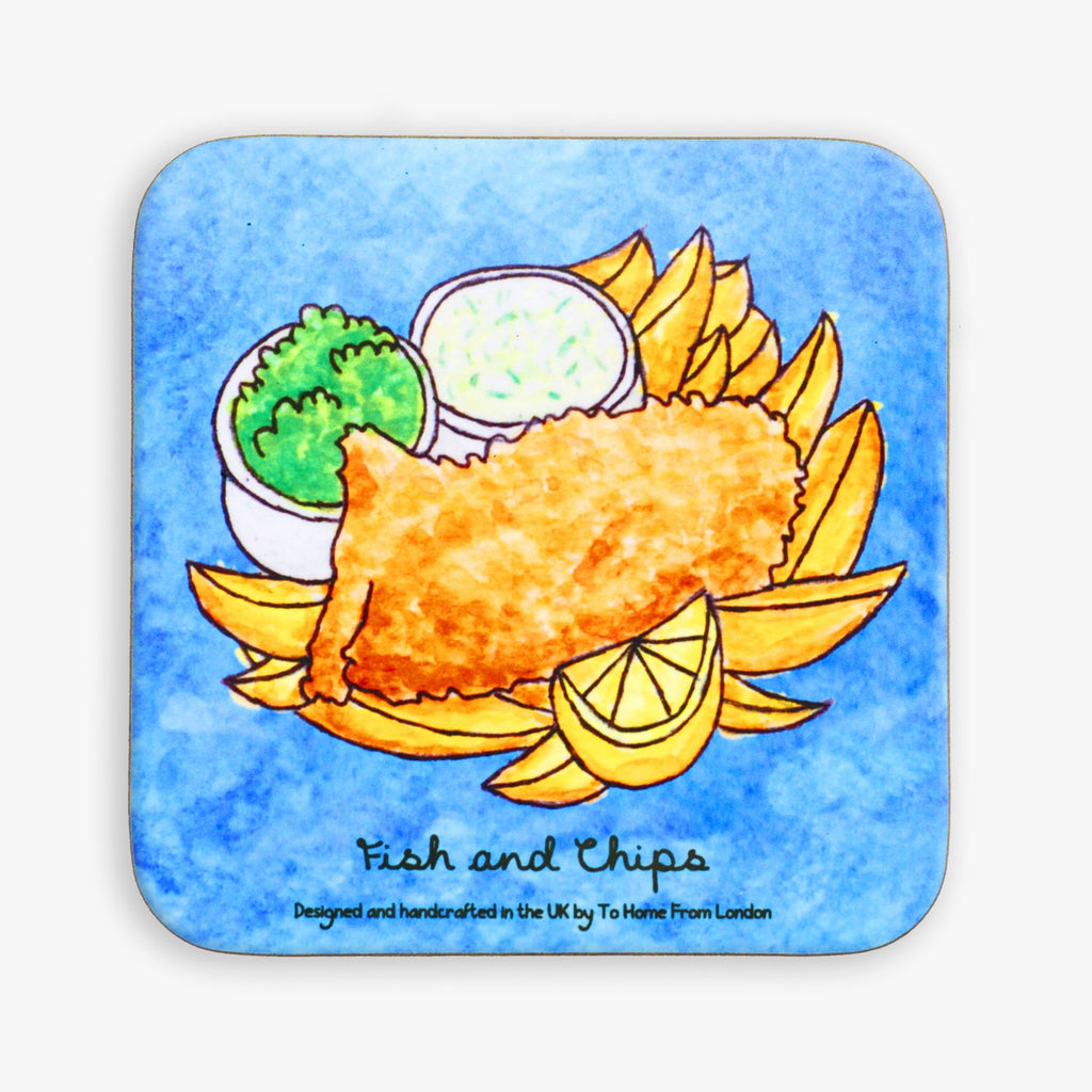 Fish and Chips Coaster - To Home From London