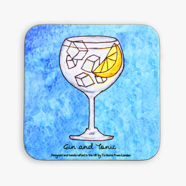 Gin and Tonic Coaster - To Home From London