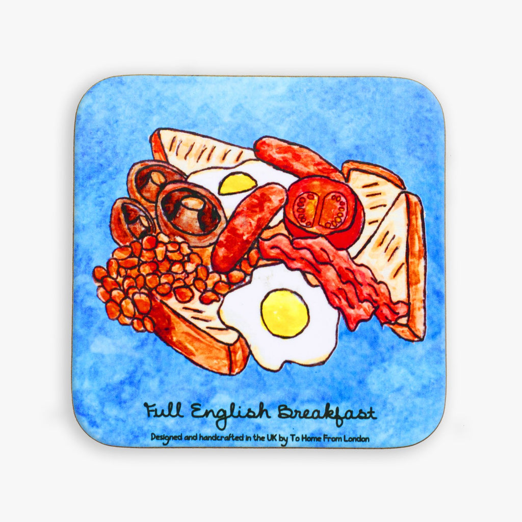 Full English Breakfast Coaster - To Home From London