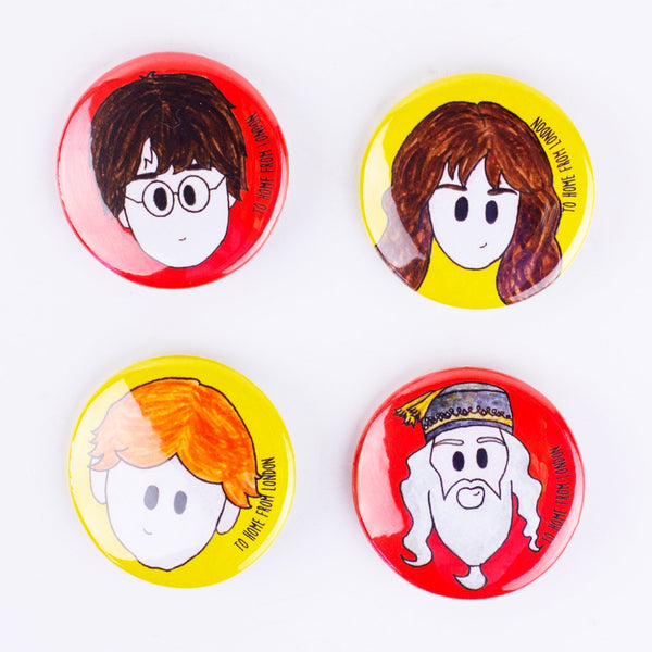 Harry Potter Badges - To Home From London